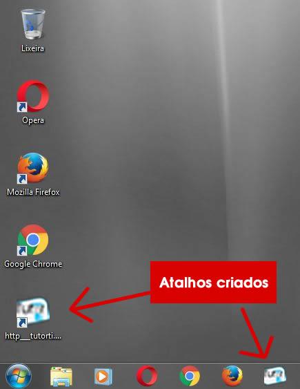 11 - verificando atalhos criado pelo google apps na area de trabalho