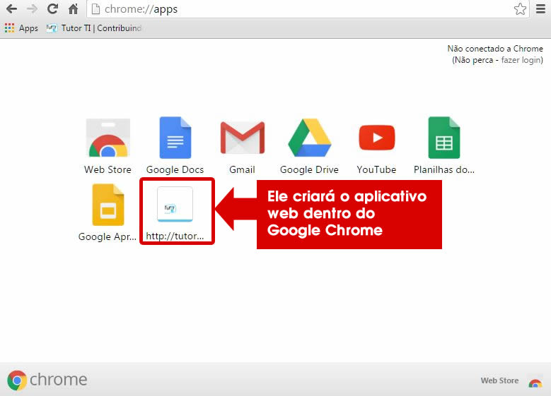 7 - verificando atalho do site no google apps