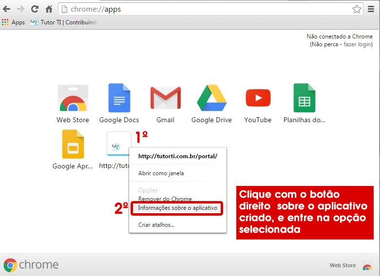 8 - mexendo na configuraçao do atalho criado no google apps