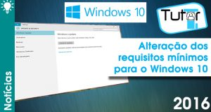 atualização altera requisitos do windows 10
