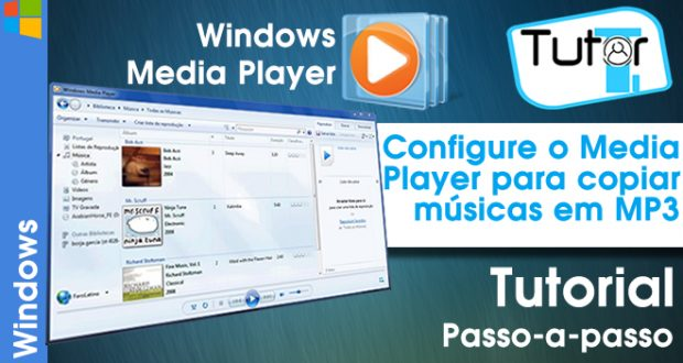 configurando o windows media player para copiar musicas em mp3