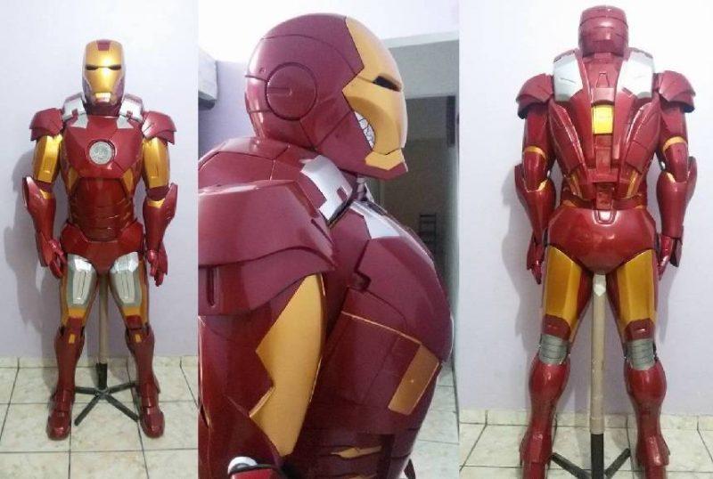dois brasileiros constroem armadura do Mark 7 do Homem de Ferro