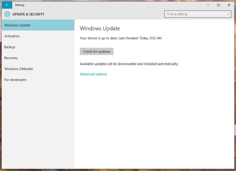 windows update do windows 10