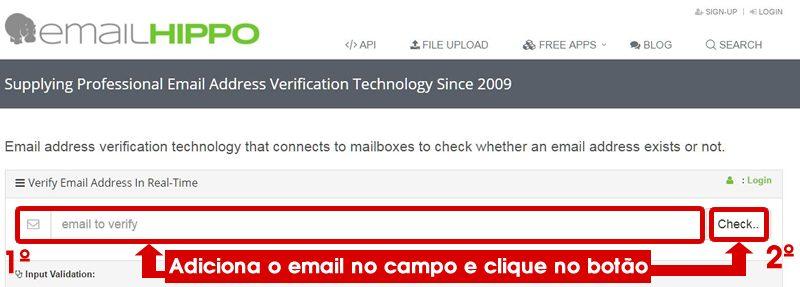 adicionando email para verificação