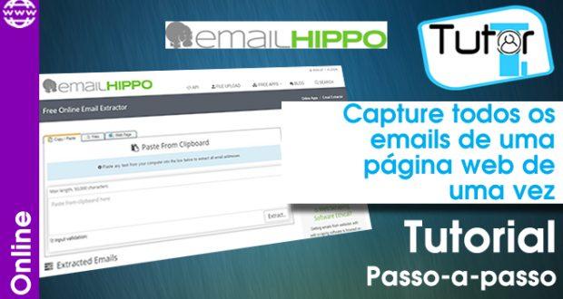 capture todos os email de pagina de uma vez