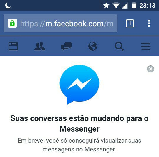 messenger web do facebook acessando pelo android