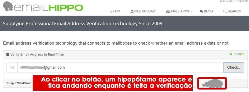 verificando email no site
