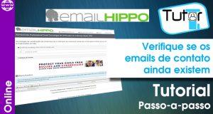 verifique se os emails de contato ainda existem