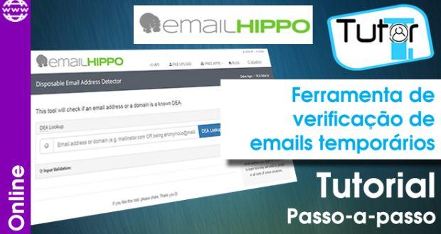 Ferramenta de verificação de emails temporários