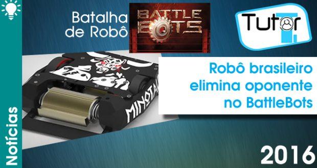 Robô brasileiro elimina oponente no BattleBots