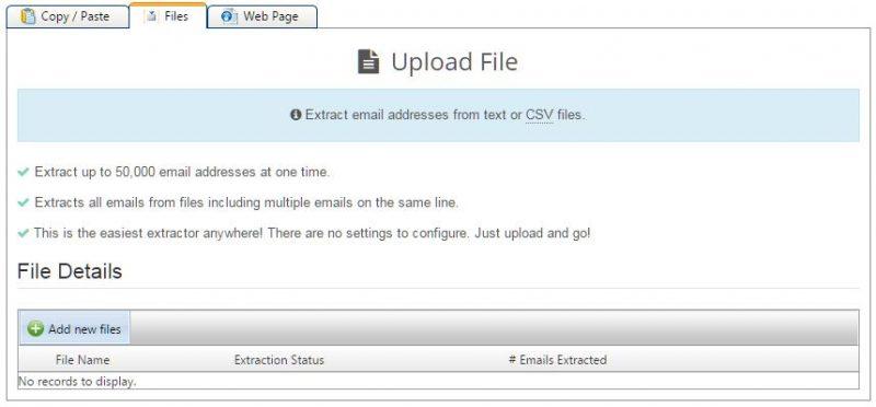 abrir arquivos específicos no email hippo