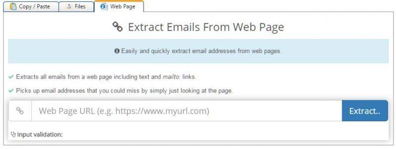 abrir sites para pegar emails no email hippo