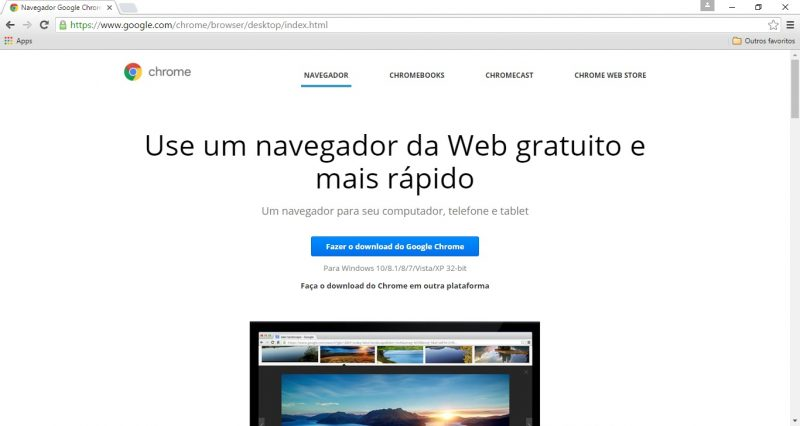 site do google chrome