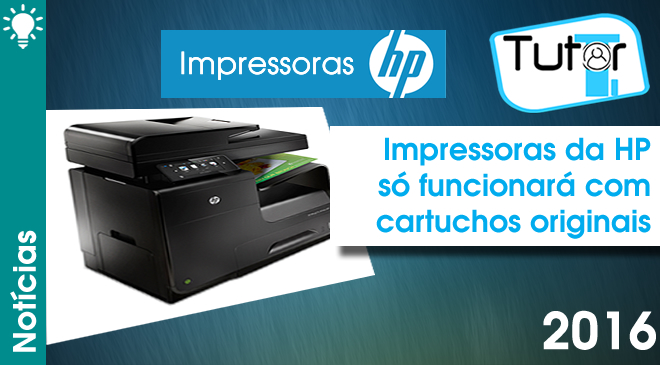 impressoras da hp só funcionará com cartuchos originais