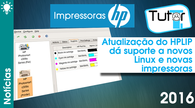atualização do hplip da suporte a novos linux e novas impressoras