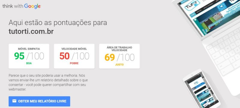 resultado do testmysite