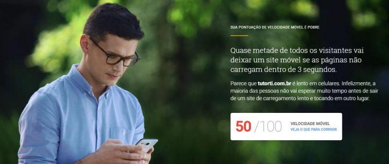 velocidade pelo celular no site pelo testmysite 2