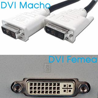 dvi conector macho e femea